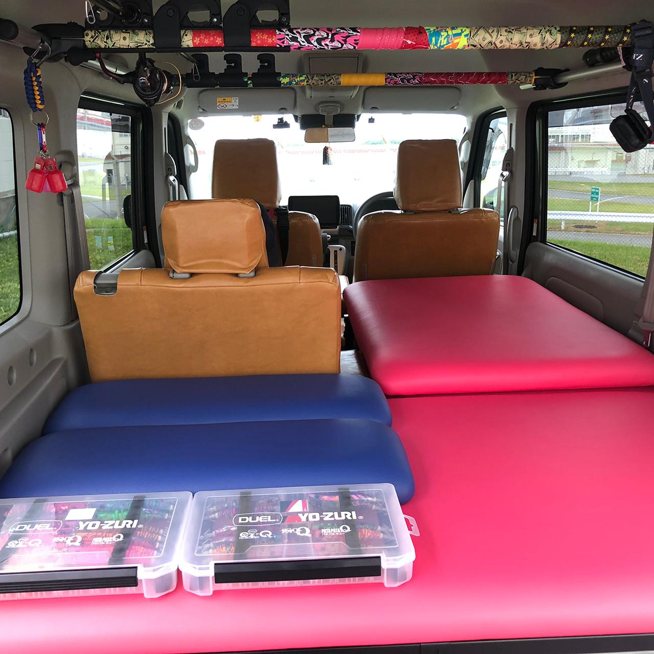 【ユーザーレビュー】エブリィワゴン(DA17W):釣りやキャンプなどのアウトドア 車中泊におすすめのベッドキット