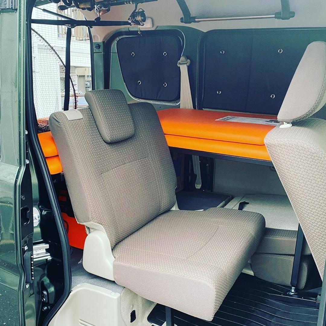 【ユーザーレビュー】エブリィバン(DA17V):釣りやキャンプなどのアウトドア 車中泊におすすめのベッドキット