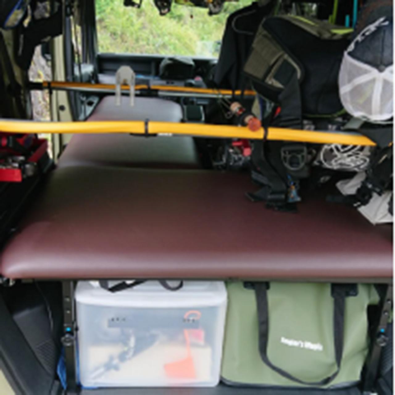 【ユーザーレビュー】エヌバン(N-VAN):釣りやキャンプなどのアウトドア 車中泊におすすめのベッドキット
